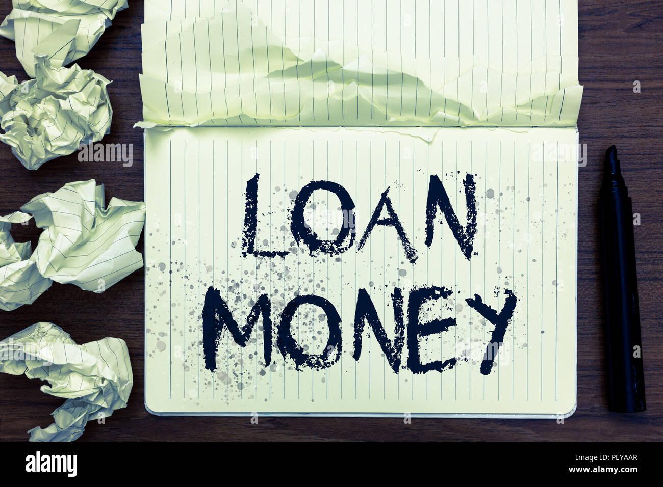 geld ausgeliehen