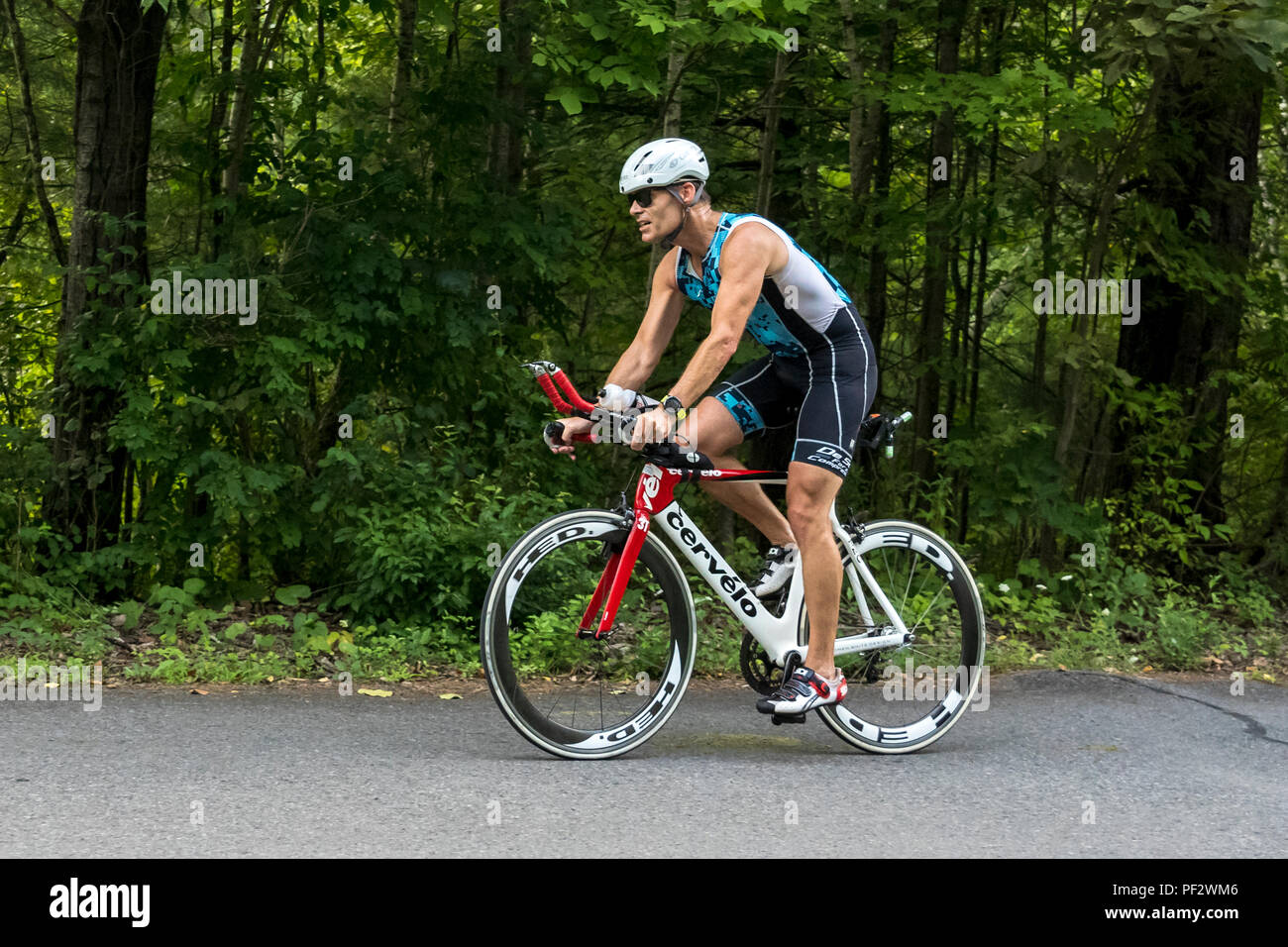 HVTC Sommer Tri-Serie Rennen #3 Stockbild