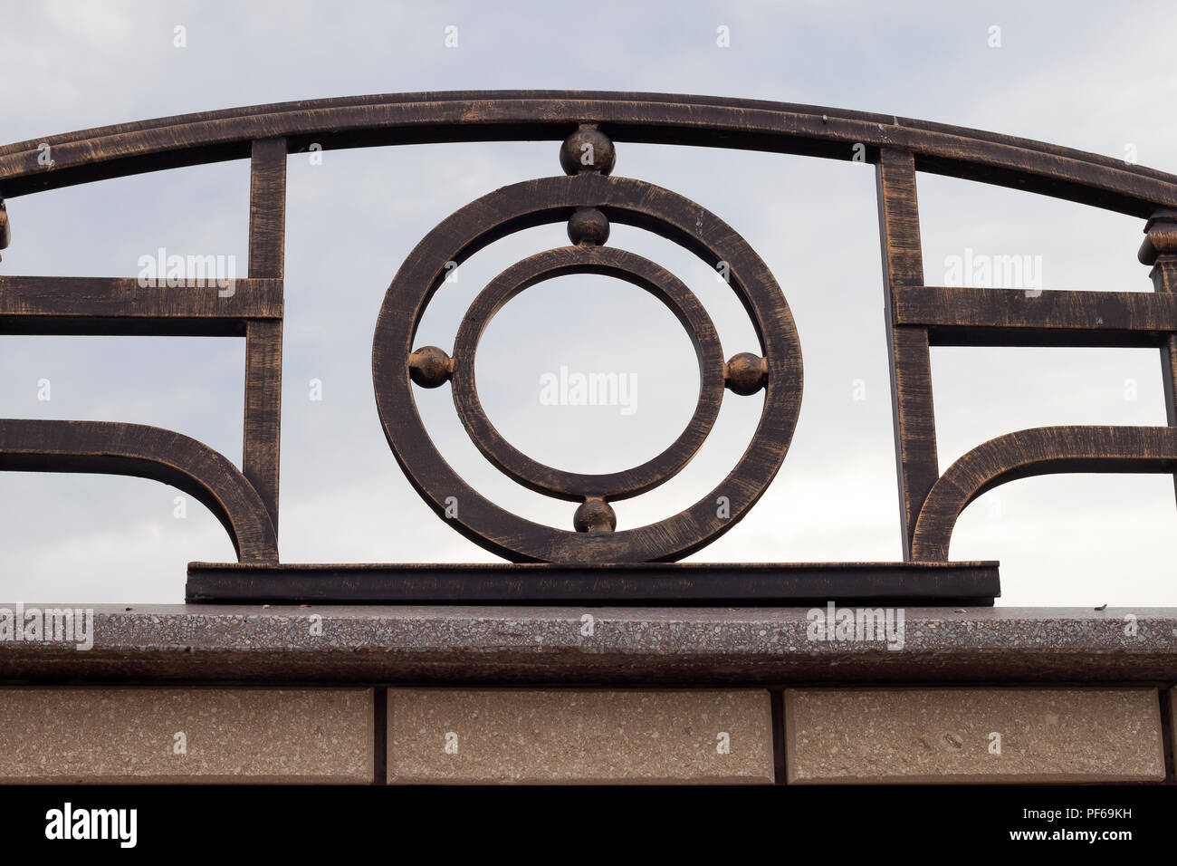 Close Up Detail Der Schonen Jahrgang Geschmiedet Metall Grosse Dunkle