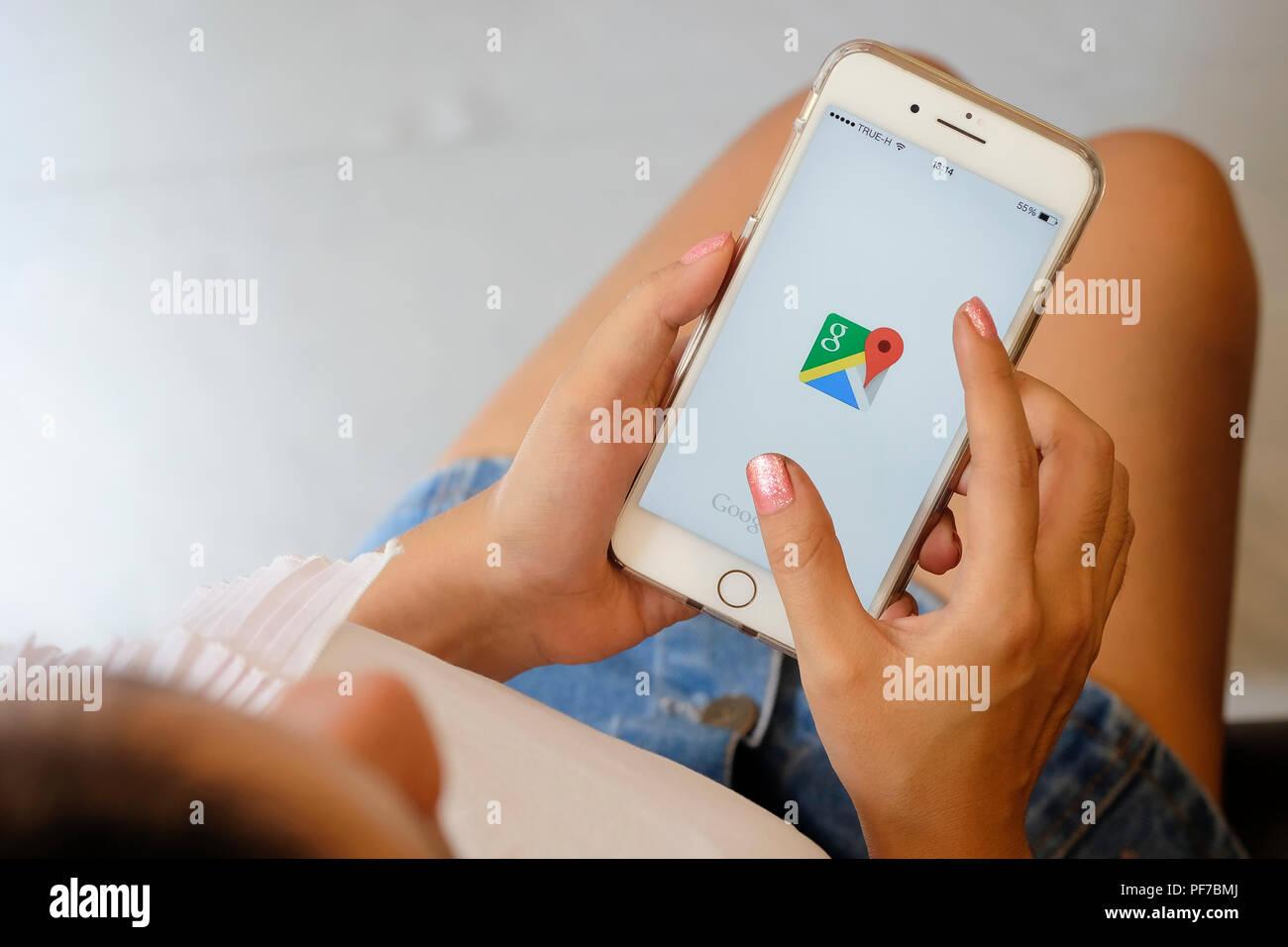 CHIANGMAI, Thailand Juli 25, 2018: Iphone 7 plus Plus mit ...