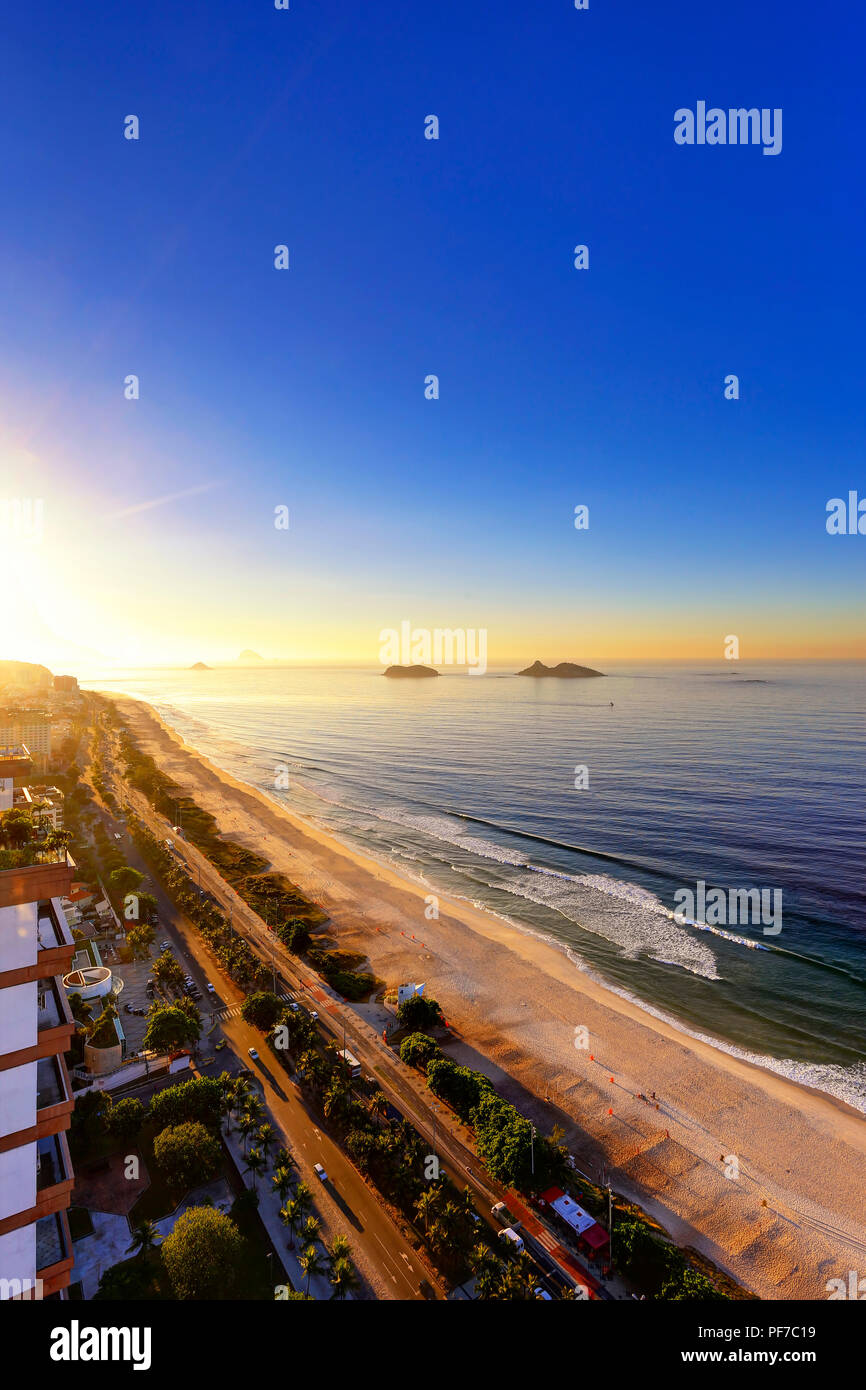 Barra Sunrise Skyline, Rio de Janeiro, Brasilien (Brasil) Stockfoto