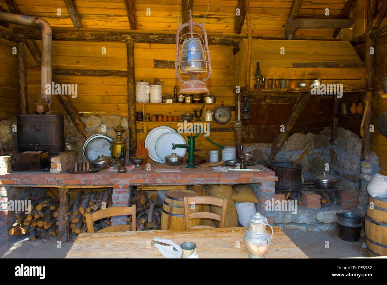 Alte Zeiten Bauernhaus Inneneinrichtung Eines Alten Landhaus Mit