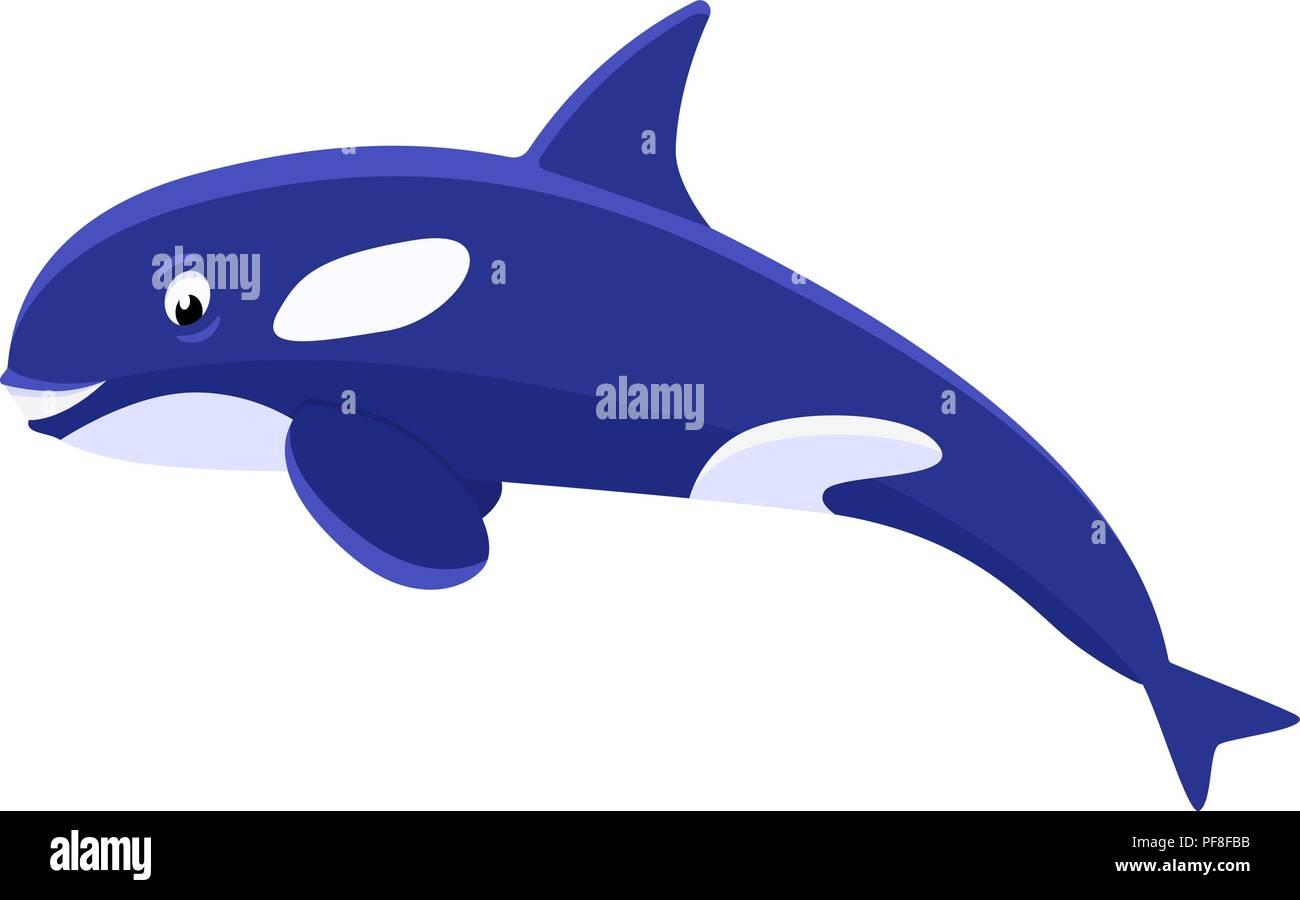 Happy Cartoon Orca Killer Whale Stockfotos & Happy Cartoon ...