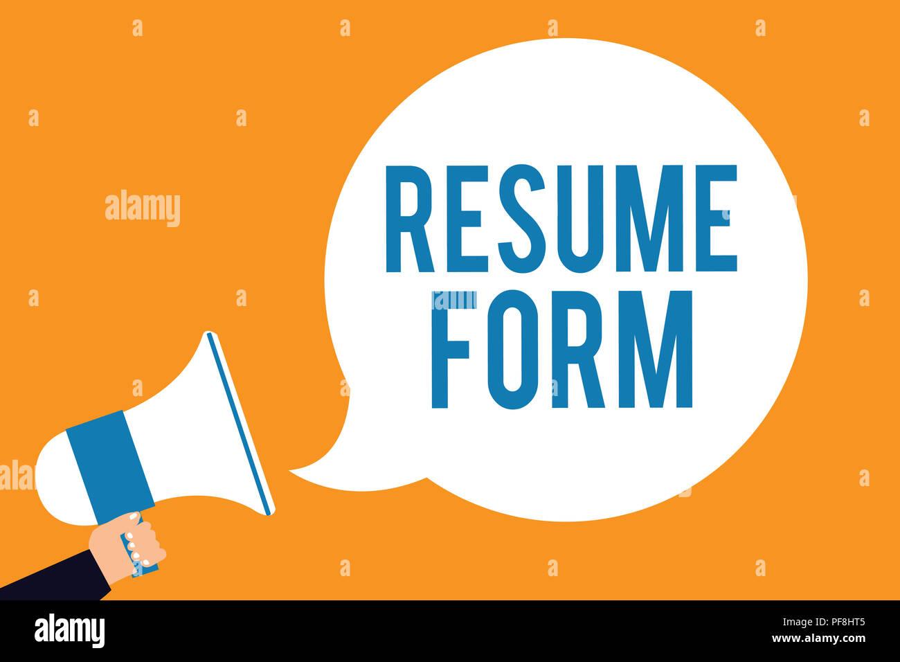 Cv Form Resume Candidate Vacancy Stockfotos Cv Form Resume