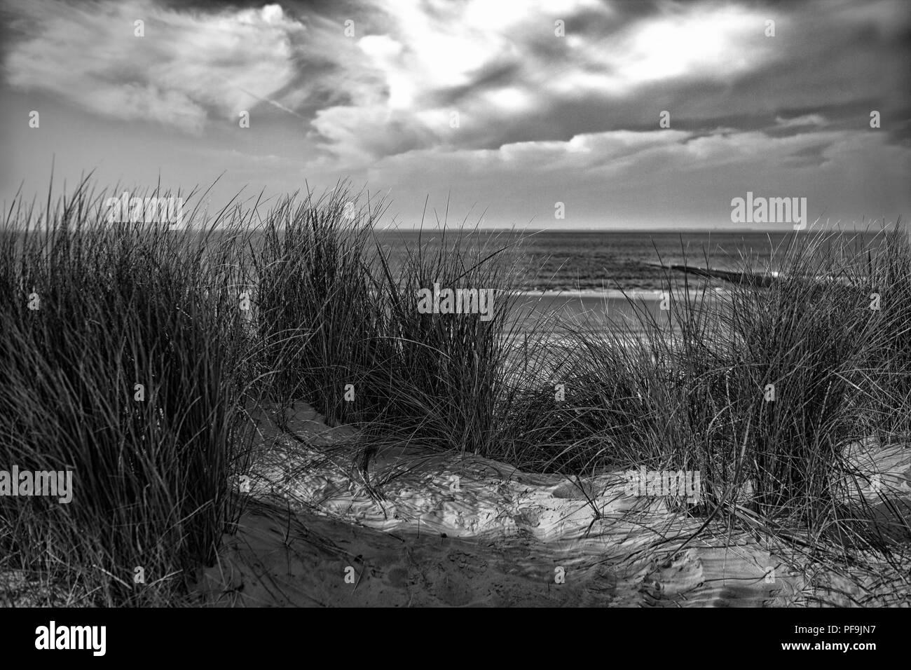 Europa Deutschland Nordsee Instagramm Stil Stockbild