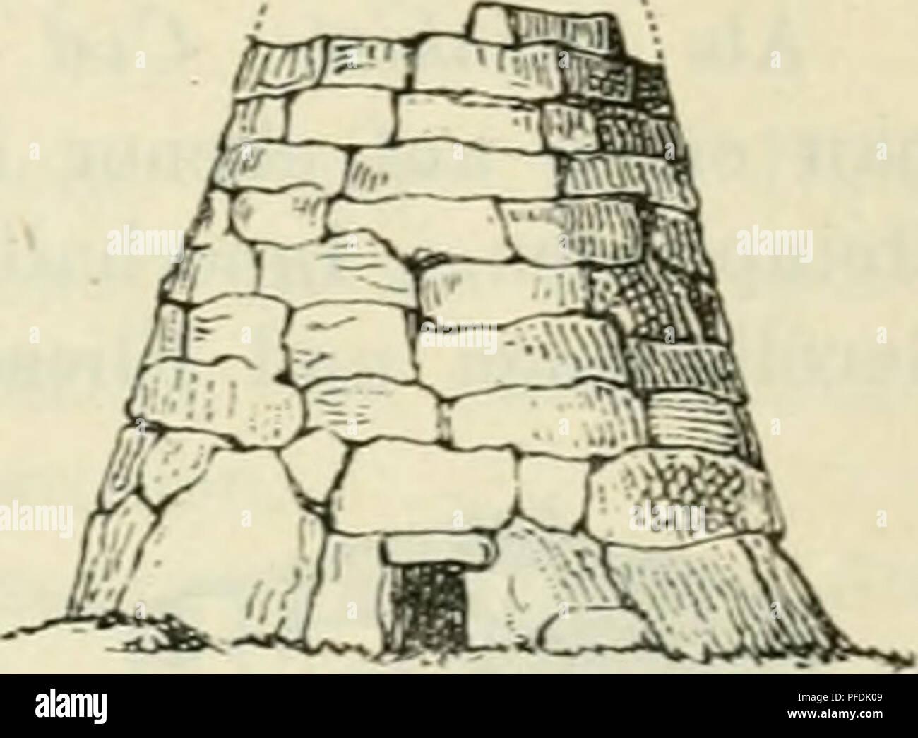 """. """"Der Beobachter""""; allgemeine Anleitung zu Beobachtungen über Land und Leute für Touristen, Exkursionisten und Forschungsreisende. Nach dem"""" Manuel du Voyageur"""", unter Mitwirkung des Verfassers. Fahrten und Reisen; wissenschaftliche Expeditionen. Abb. 2 Ö 4. Sterben Naos (Fht. 255 b), c) auf den Balearen sind lange kahnförmige Cairns (""""naoK = Kahn, kleines Schiff); die berühmten Pyramiden Egyptens endlich modalverbs als in riesigen Di- mensionen erstellte Cairns betrachtet werden. Abb. 855 ein. Bitte beachten Sie, dass diese Bilder aus gescannten Seite Bilder, die digital verbessert worden sein können extrahiert werden Stockbild"""
