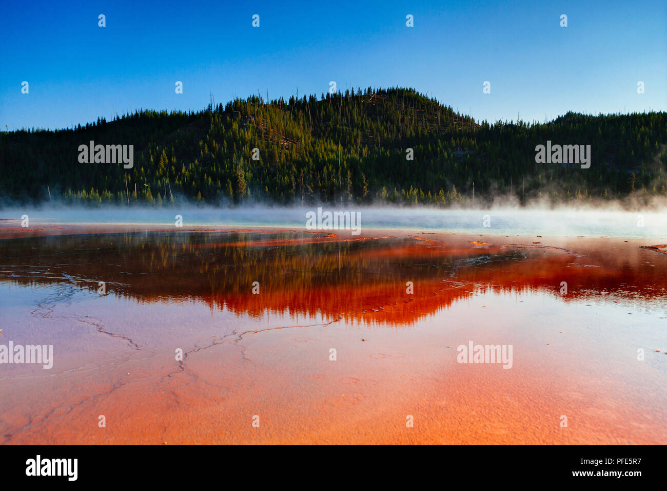Grand Prismatic Spring, Yellowstone National Park, USA Stockbild
