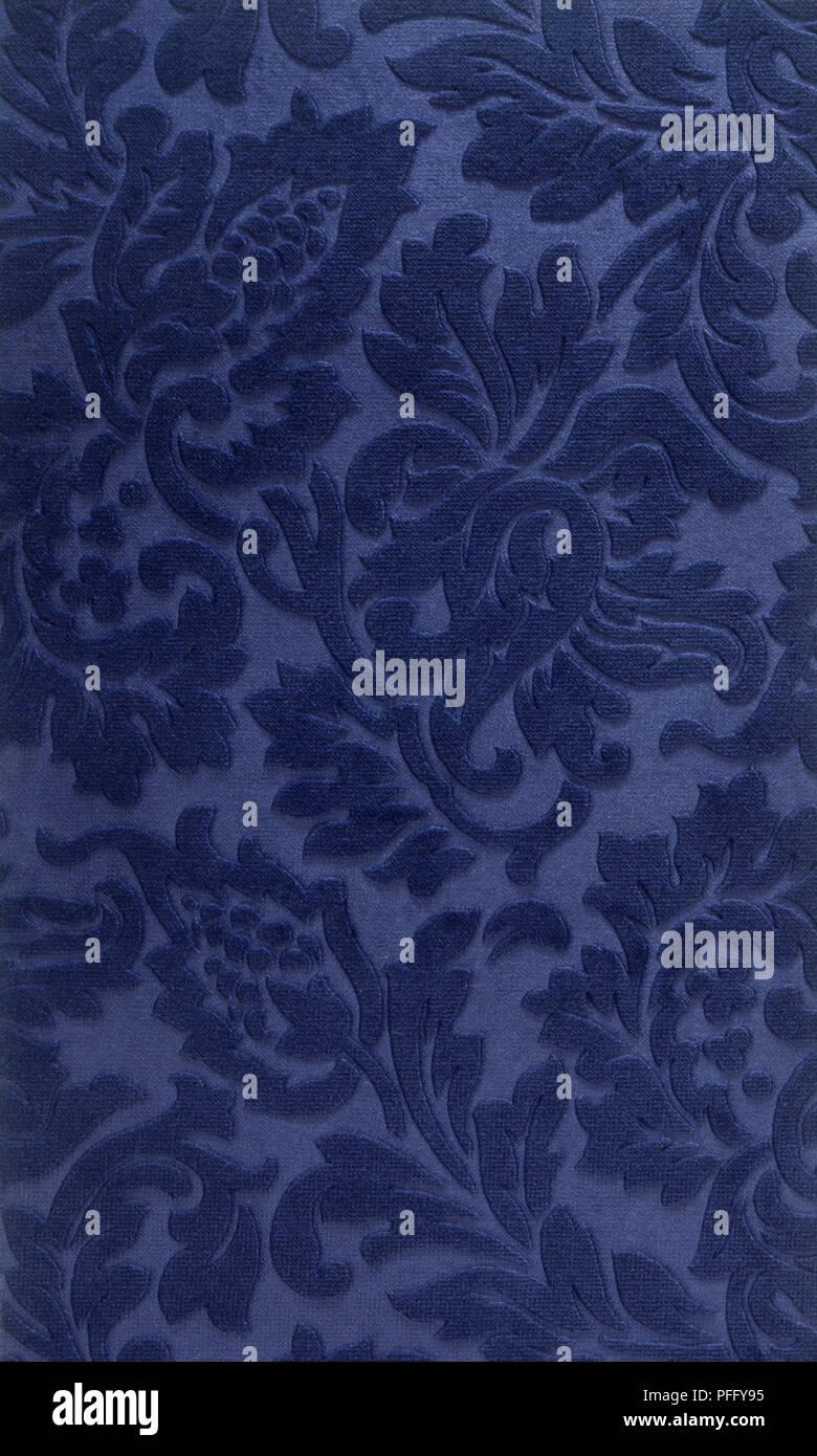 Hotel Im Viktorianischen Stil Blue Velvet Blumen Muster Tapete