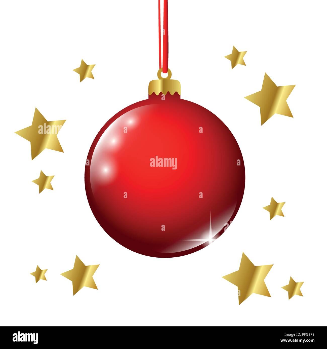 Weihnachtskugel rot gold sterne vektor illustration eps 10 vektor abbildung bild 216103168 - Weihnachtskugel englisch ...