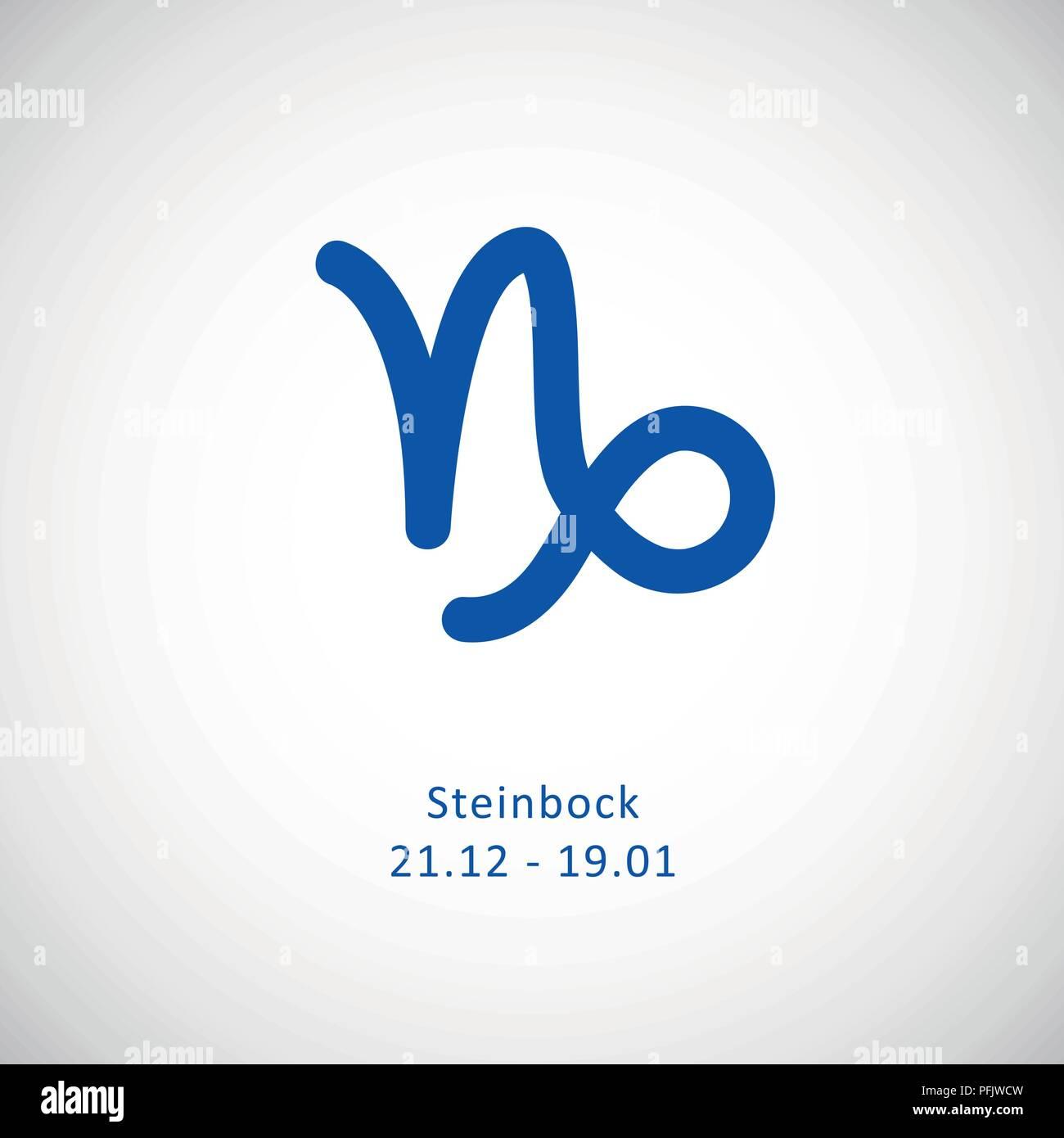 Steinbock symbole für sternzeichen Steinbock (Tierkreiszeichen)