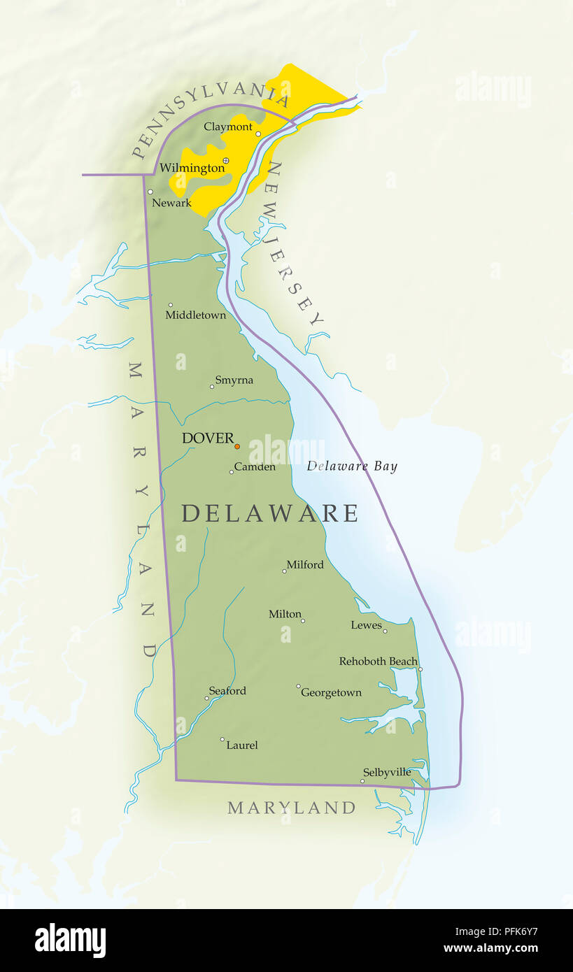 Delaware Map Stockfotos & Delaware Map Bilder - Alamy on
