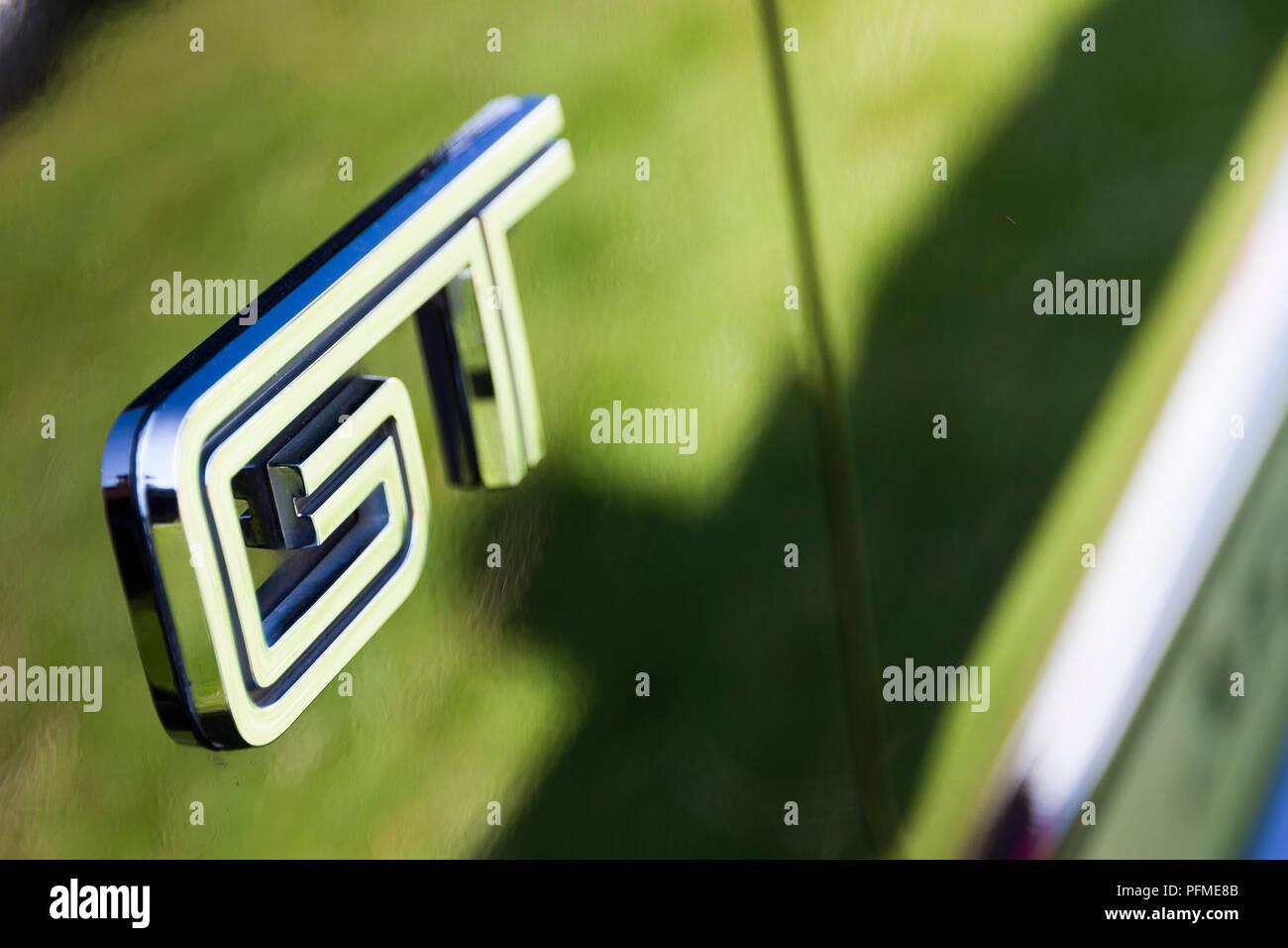 Ford Mustang GT Emblem Stockbild