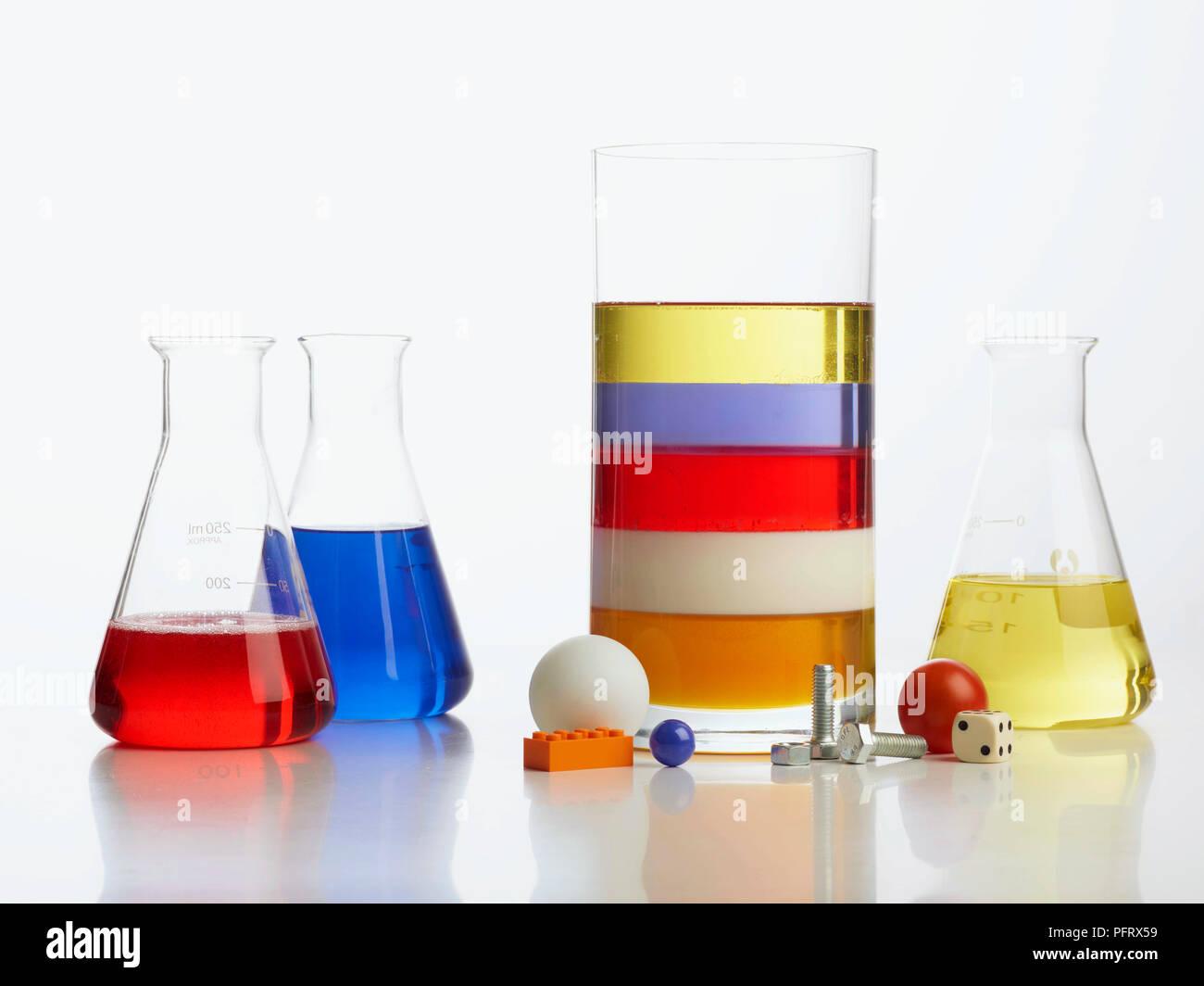 dichte turm experiment klare vase mit 5 schichten von fl ssigen honig milch waschmittel. Black Bedroom Furniture Sets. Home Design Ideas