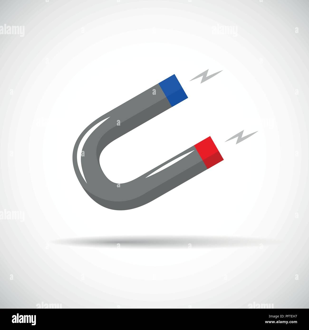 Magnet power Symbol Piktogramm Vektor-illustration EPS 10. Stockbild
