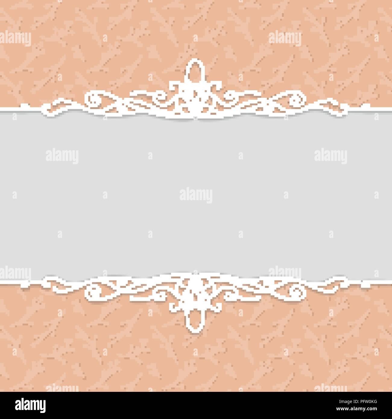 Vektor Schönen Rahmen In Pfirsich Farbe Für Hochzeit Einladungen
