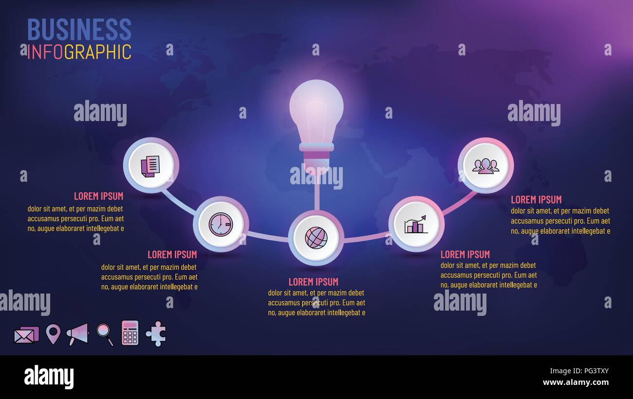 Business info grafiken vorlage idee konzepte vector illustration