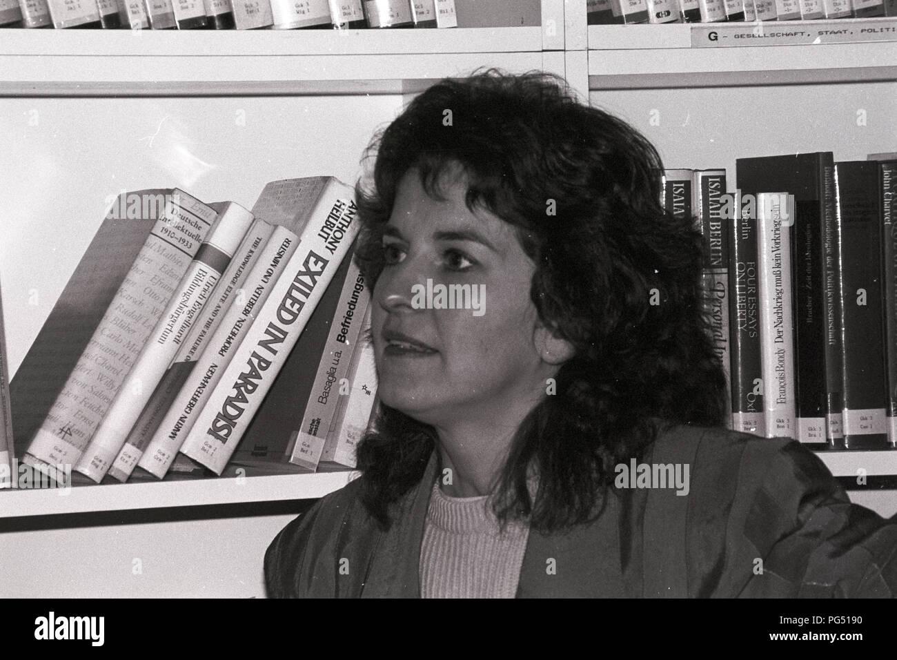 Der Literaturwissenschaftler und Philosoph Cornelia Klinger auf einer Sitzung des IWM (Institut für die Wissenschaften vom Menschen in Wien. Klinger führte die Iwm von 2013 bis 2015. Stockfoto