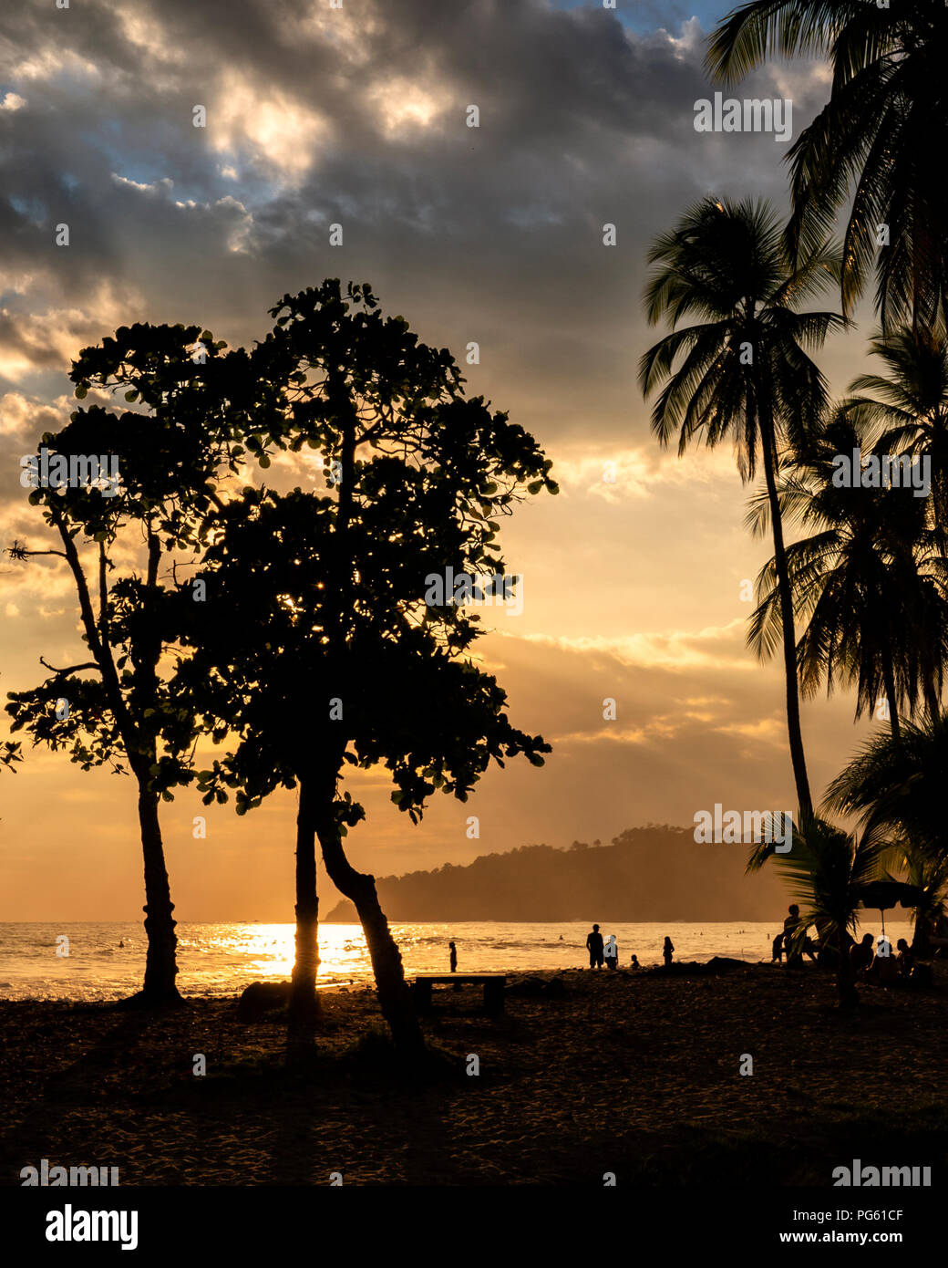 Strand, Corcovado Nationalpark, Halbinsel Osa, Costa Rica. Stockbild