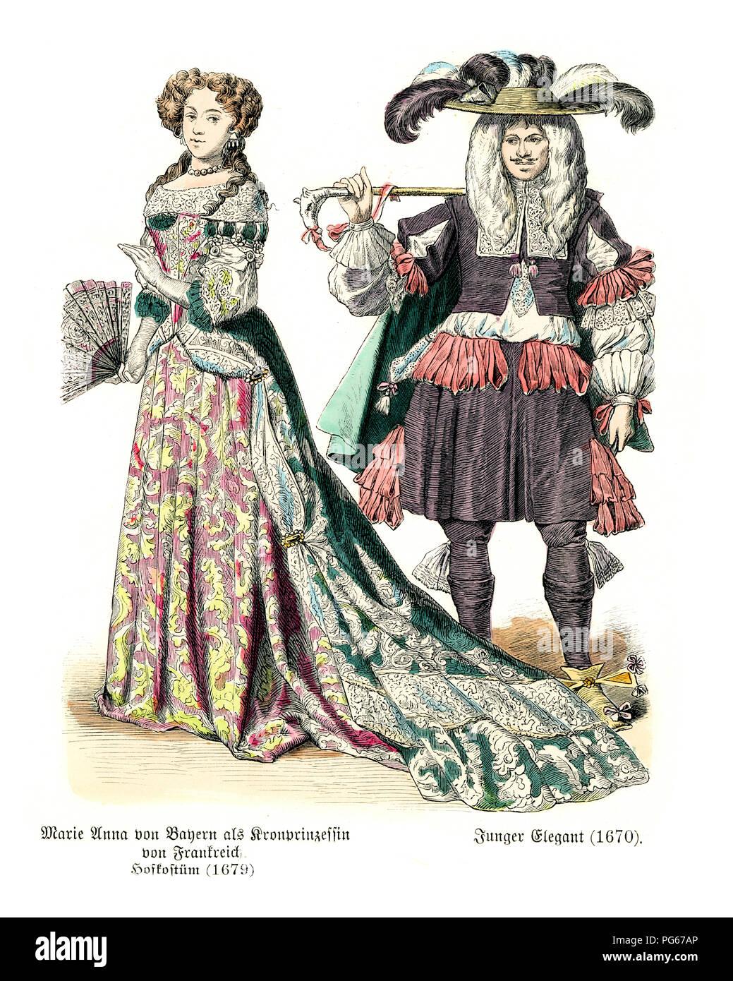 17 Jahrhundert Bild Architektur: Die Mode Des 17. Jahrhunderts In Frankreich, Marie Anna