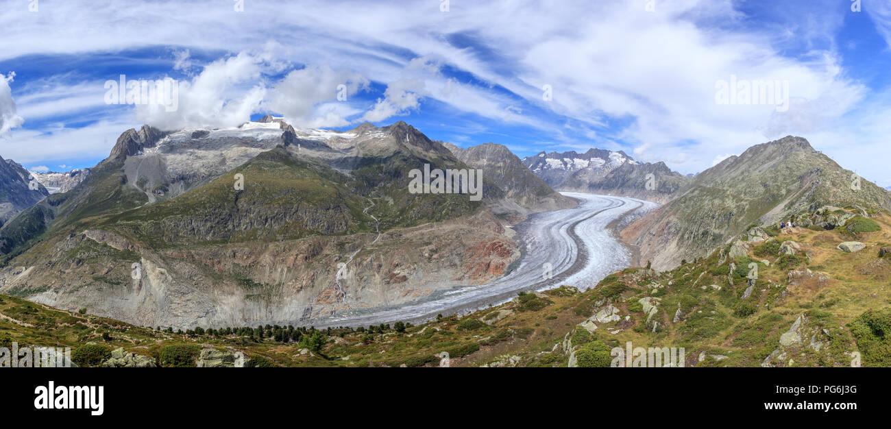 Aletschgletscher in der Schweiz Stockbild
