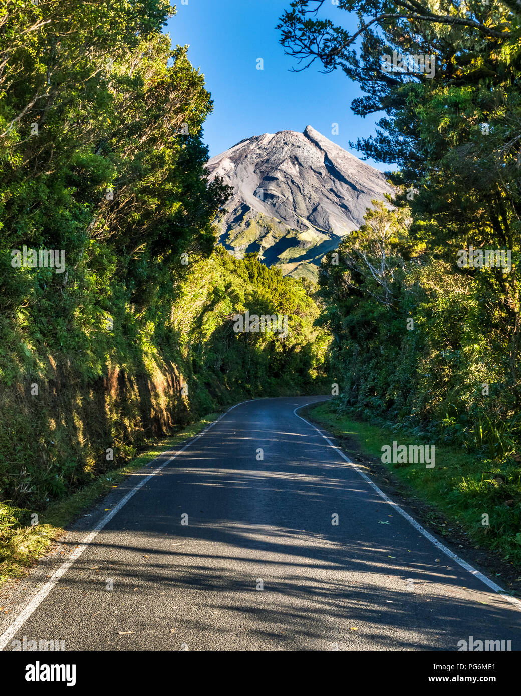 Neuseeland, Nordinsel, Egmont National Park, Blick auf Mount Taranaki Stockfoto