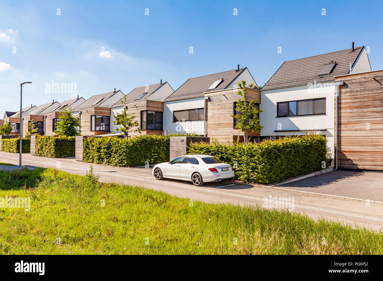 Deutschland, Baden-Württemberg, Stuttgart, Ostfildern, moderne Effizienz Häuser Stockbild