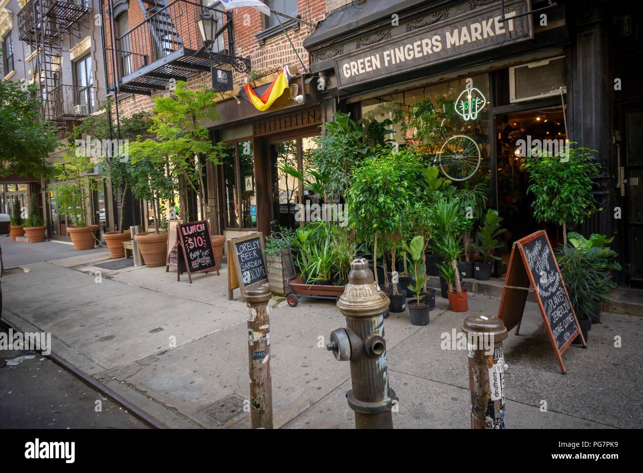 Bars Und Restaurants In Der Lower East Side In Manhattan In New