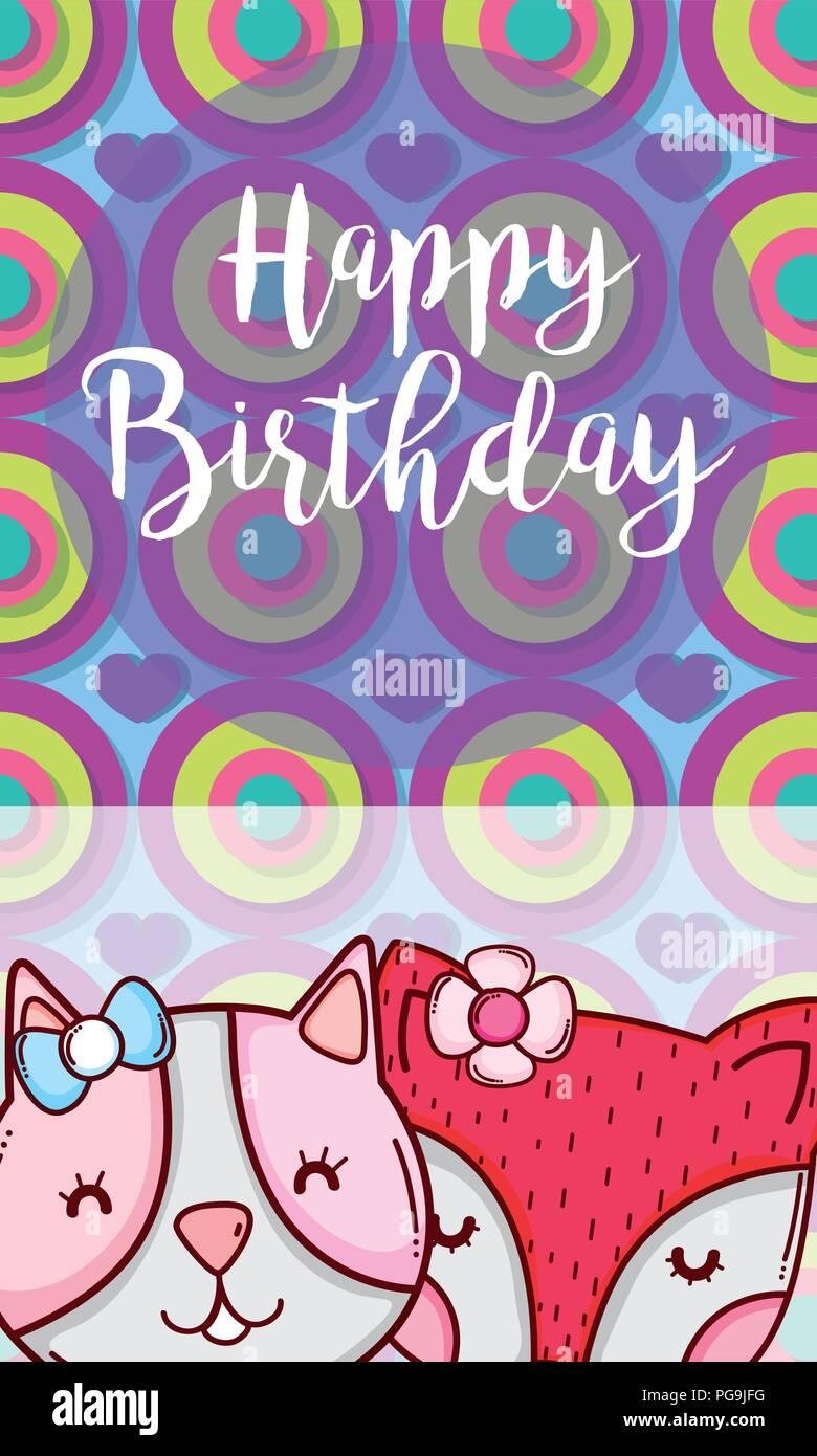 Alles Gute zum Geburtstagskarte Stock Vektor