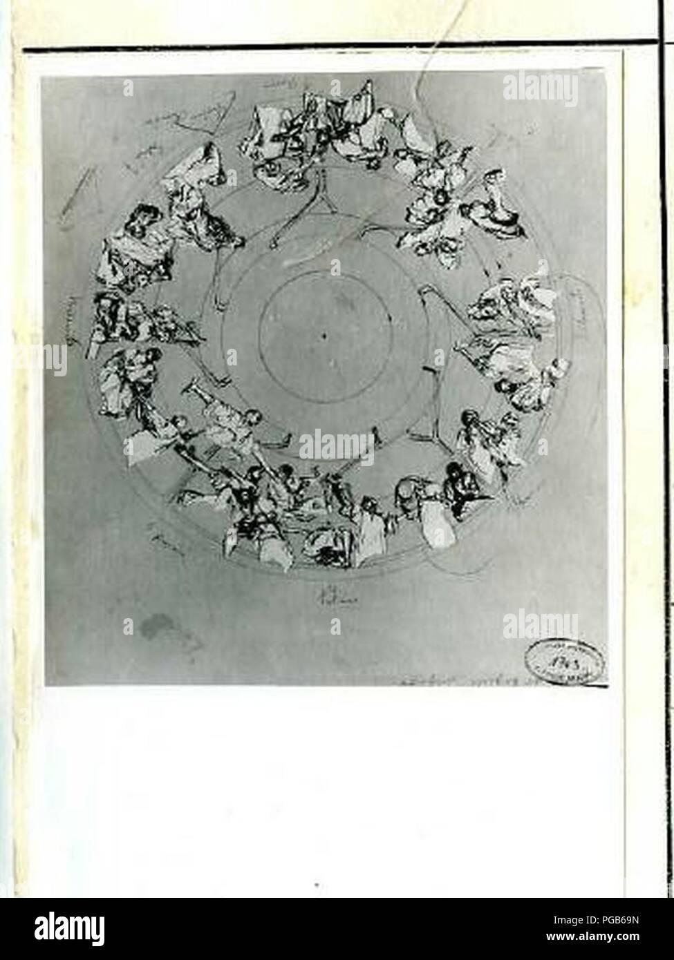 Autor Alfons Mucha 24.7.1860-14.7.1939-Studie stropu pro Primatorskou Sünde Obecniho domu. Stockfoto