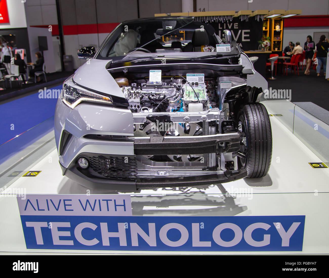 Bangkok Thailand 22 August 2018 Toyota C Hr Elektrische Auto