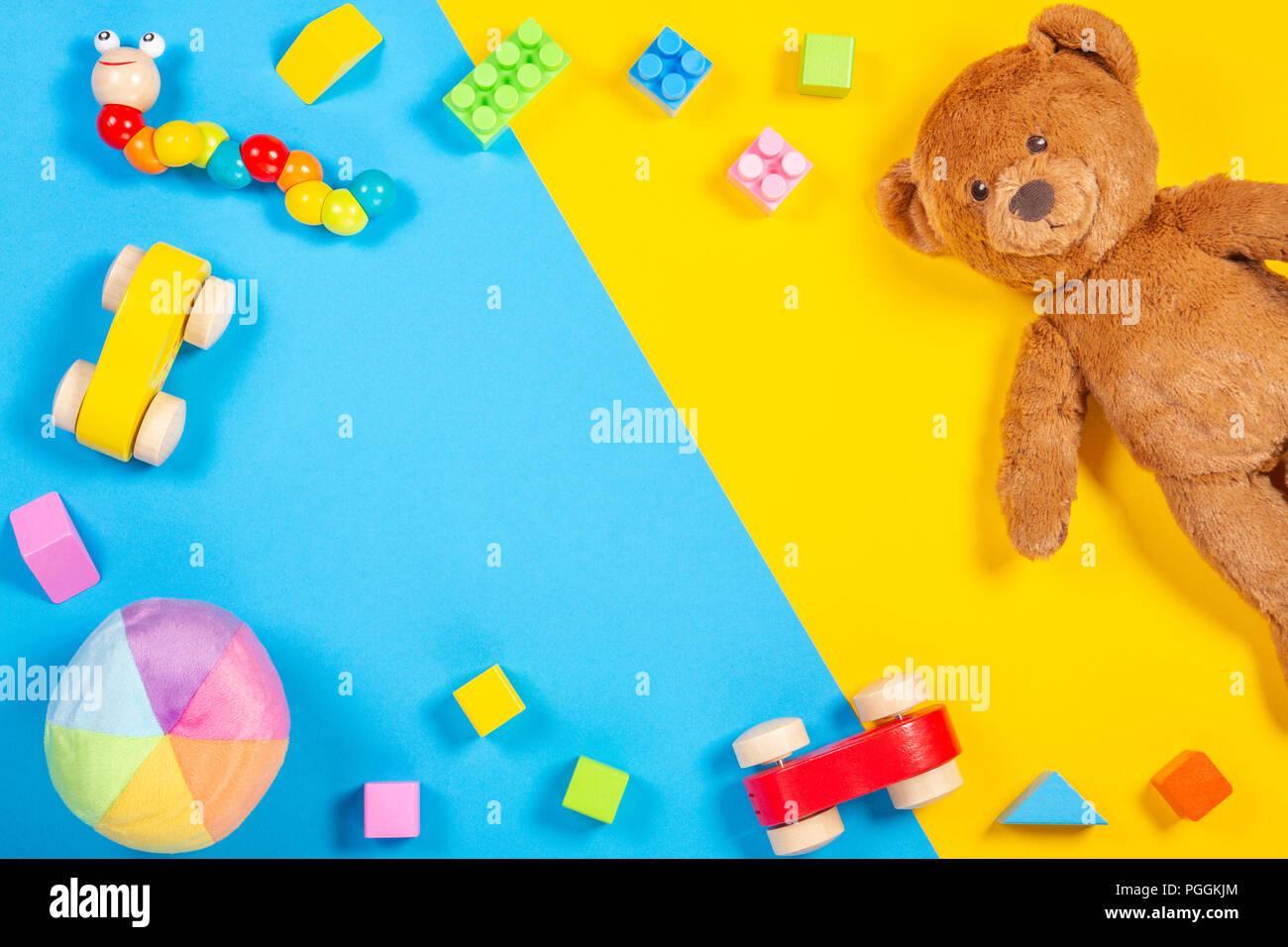 Telaio bambini giocattoli per con legno di orsacchiottomacchinina di Y7b6gyvf