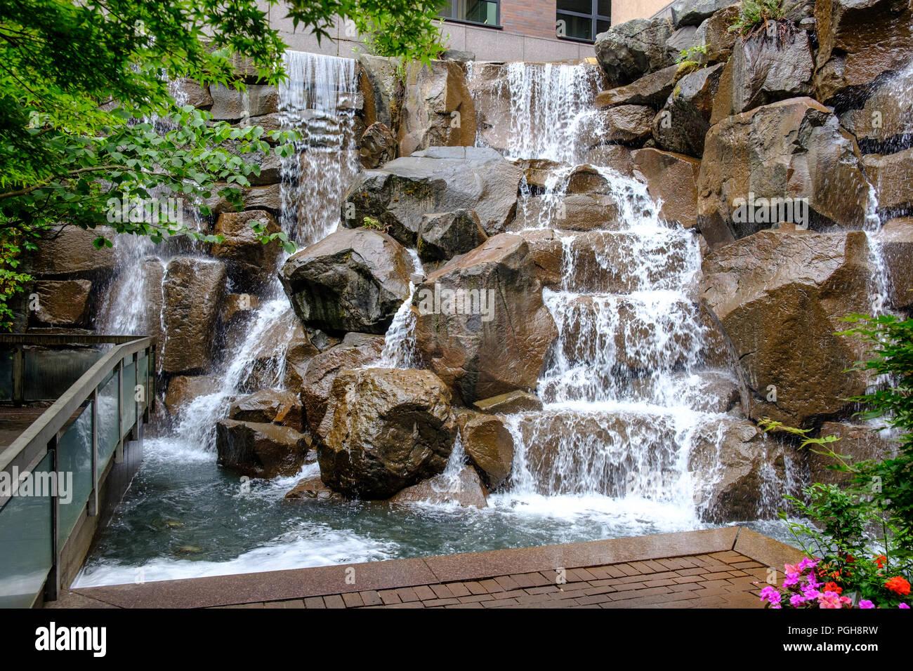 Wasserfall Garten Park Stockfotos Wasserfall Garten Park Bilder