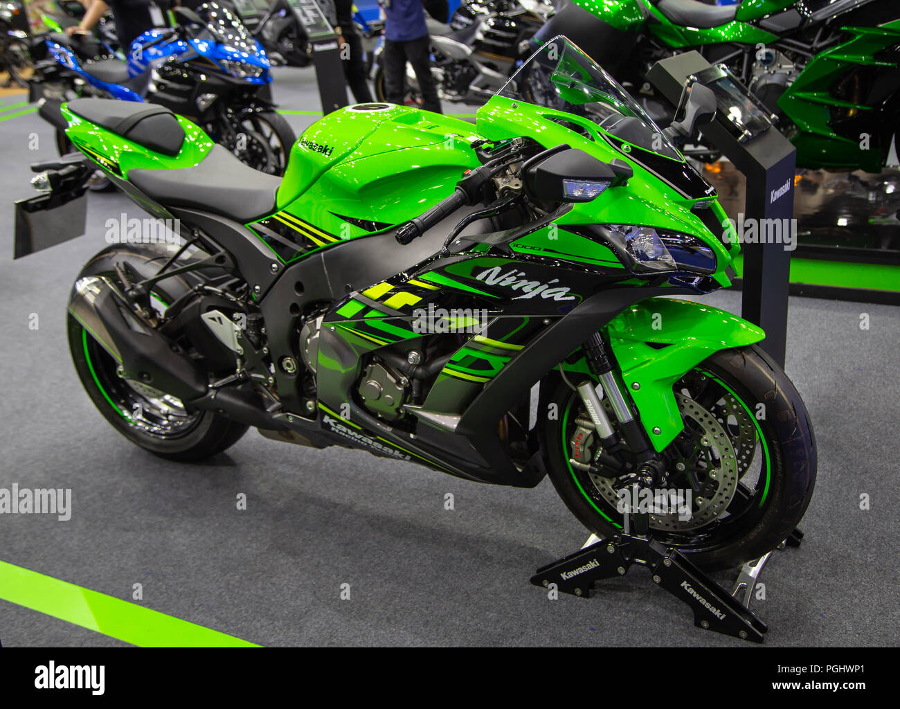 Bangkok Thailand 22 August 2018 Kawasaki Ninja 1000 Superbike
