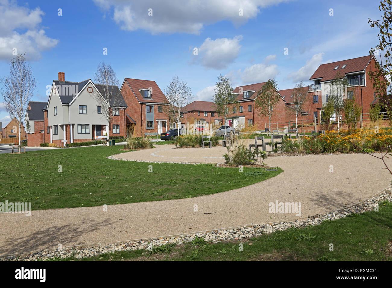 Neu gebaute Häuser in der Castle Hill Viertel von ebbsfleet Garden City, südöstlich von London, UK. Eine neue Regierung Gehäuse Initiative Stockbild