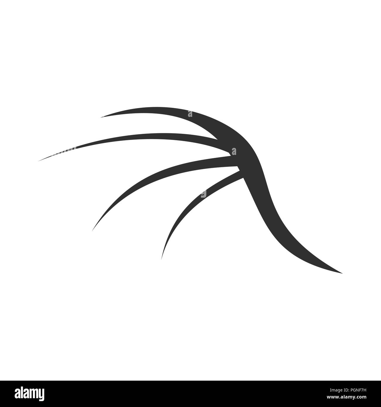 Abstract Dragon Wing Shape Vektor Symbol Grafik Logo Design Template