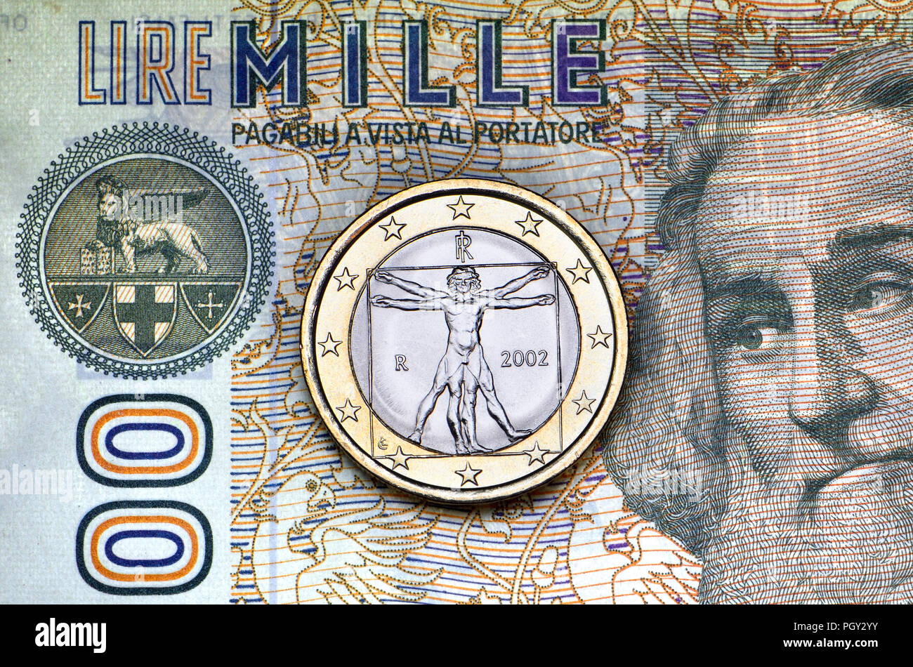 Italian Currency Stockfotos Italian Currency Bilder Alamy