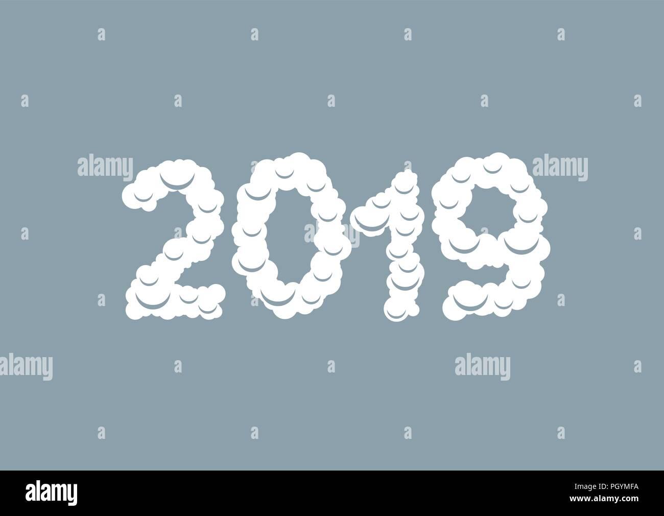 Weihnachten 2019 Schnee.2019 Weißen Schnee Zahlen Frohes Neues Jahr Und Frohe Weihnachten
