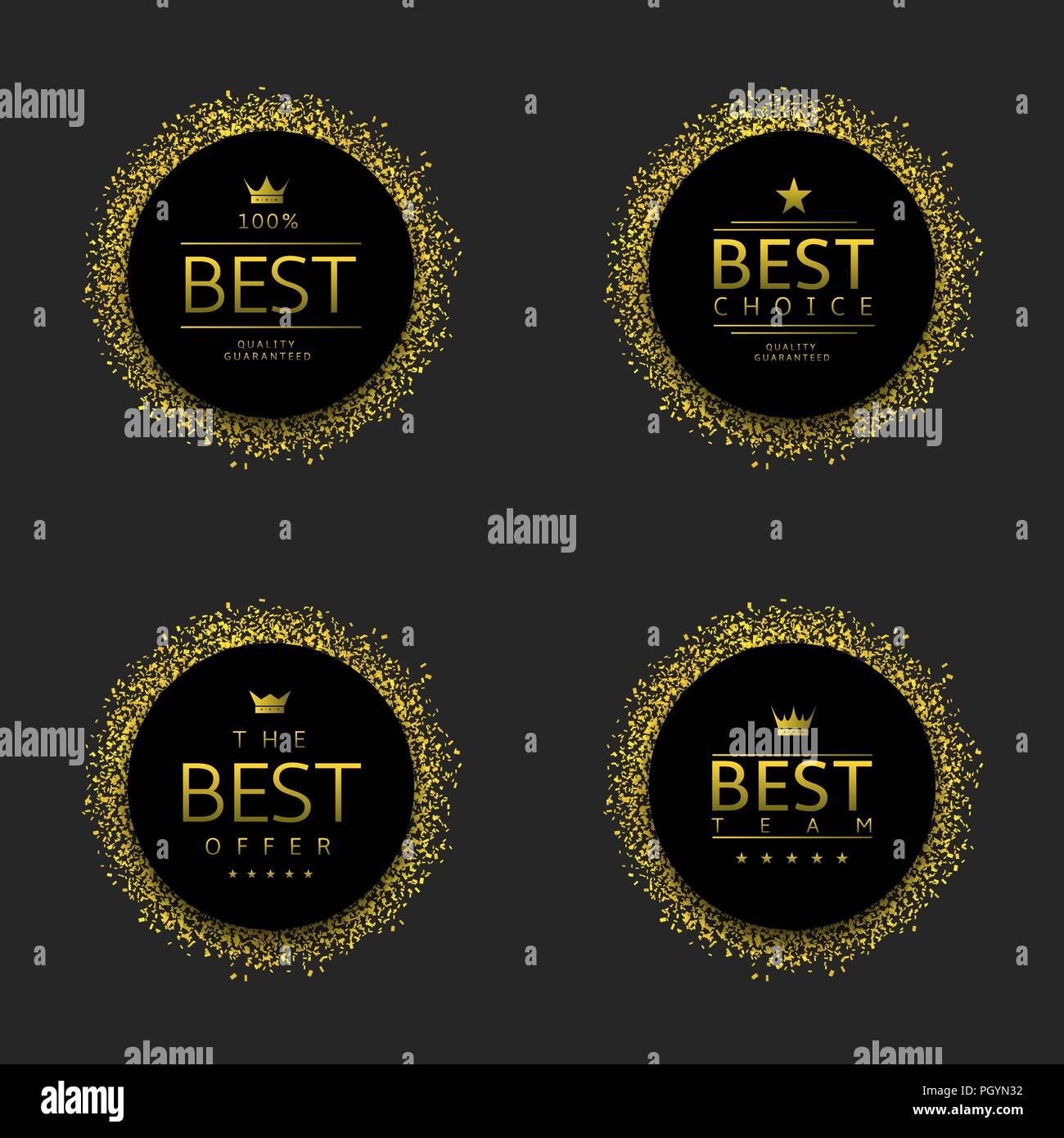 Schwarze Etiketten Mit Goldenen Konfetti Beste Qualität Auswahl