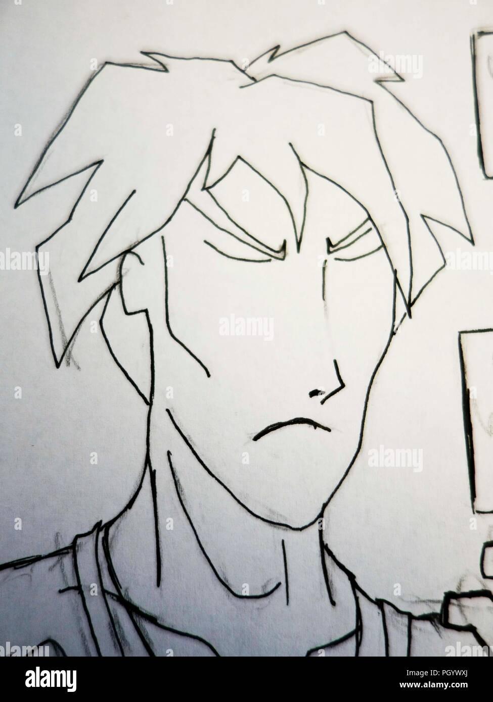 Anime Charakter Zeichnen Stockfoto Bild 216971962 Alamy