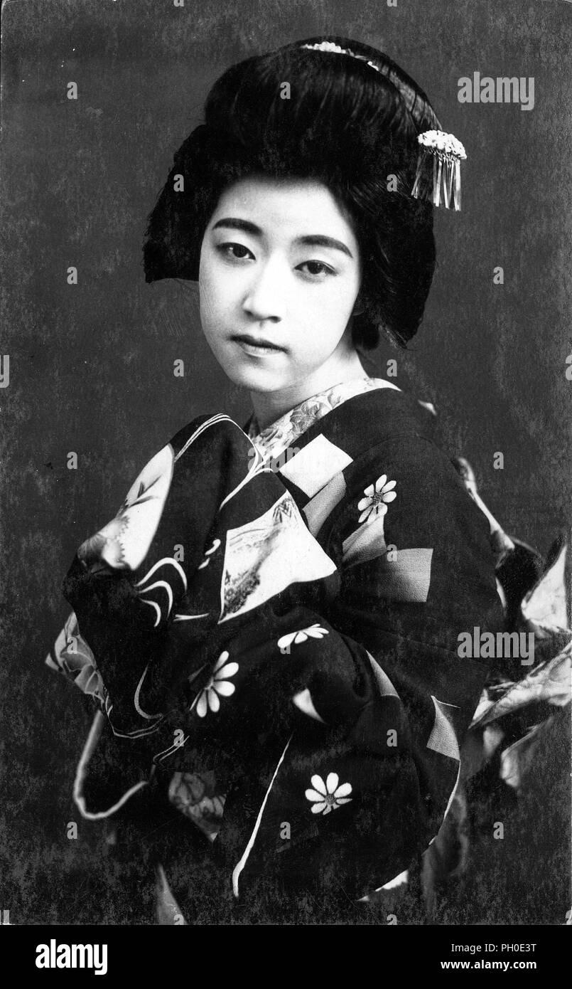 1920s Japan Maiko Lehrling Geisha Junge Japanische Maiko