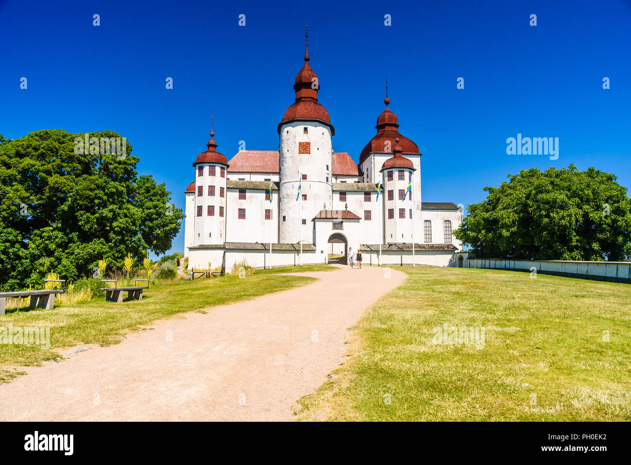 lidkoping schweden 4 juli 2018 lacko schloss ist. Black Bedroom Furniture Sets. Home Design Ideas
