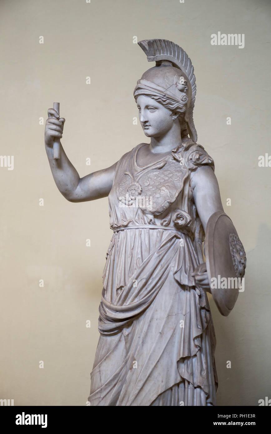 Rom  Italien  Statue der Athene, 1 C A D Kopie der 3 C v  Chr