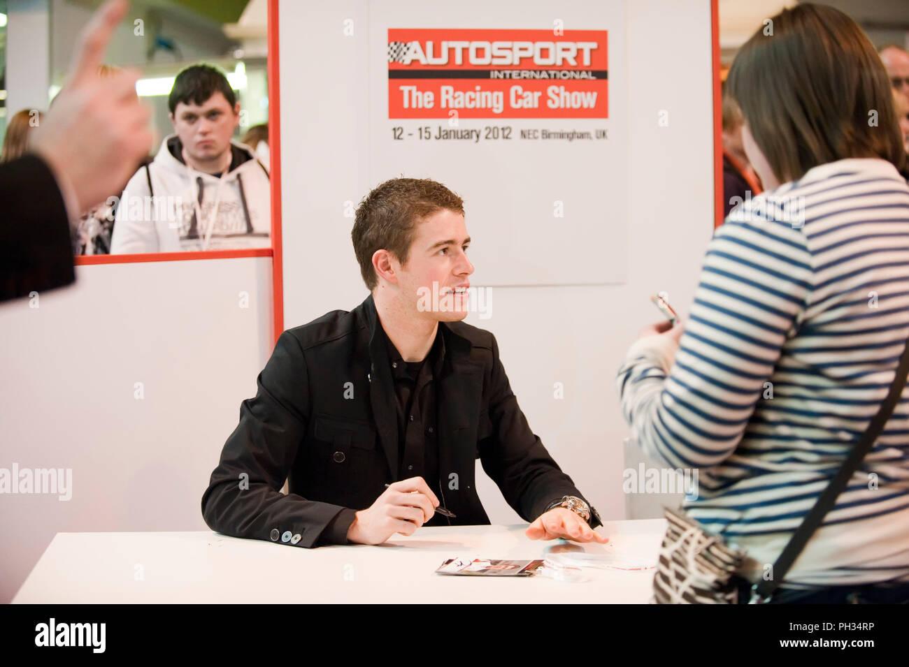 Paul Di Resta in der Formel 1 Fahrer Autogramme an der Autosport International Exhibition NEC Birmingham GROSSBRITANNIEN Stockbild