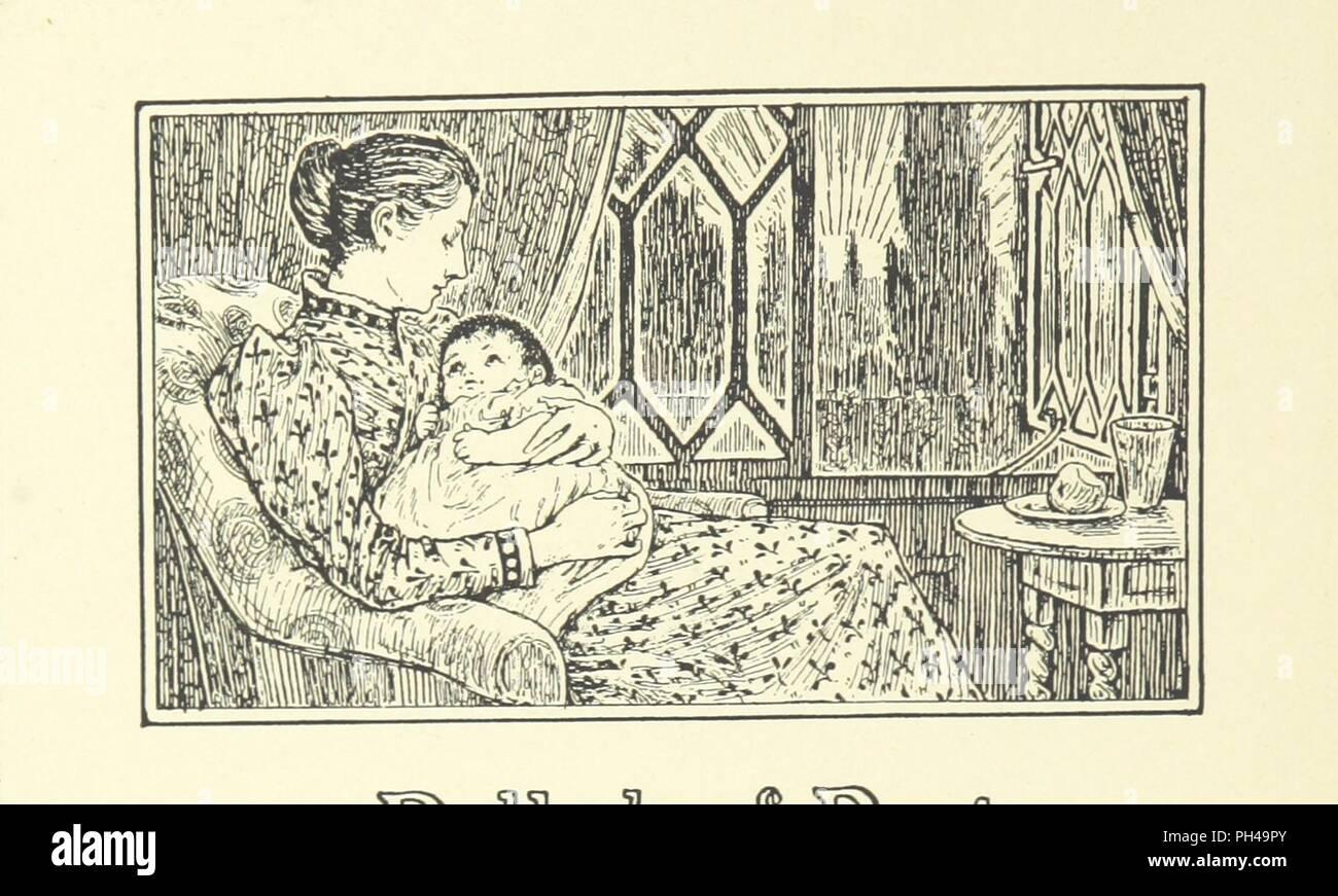 """Bild von Seite 72 der """"Neue Bilder in alten Frames, ein Buch der Vers für Mädchen und Jungen im alten französischen Formen, etc.' geschrieben. Stockfoto"""