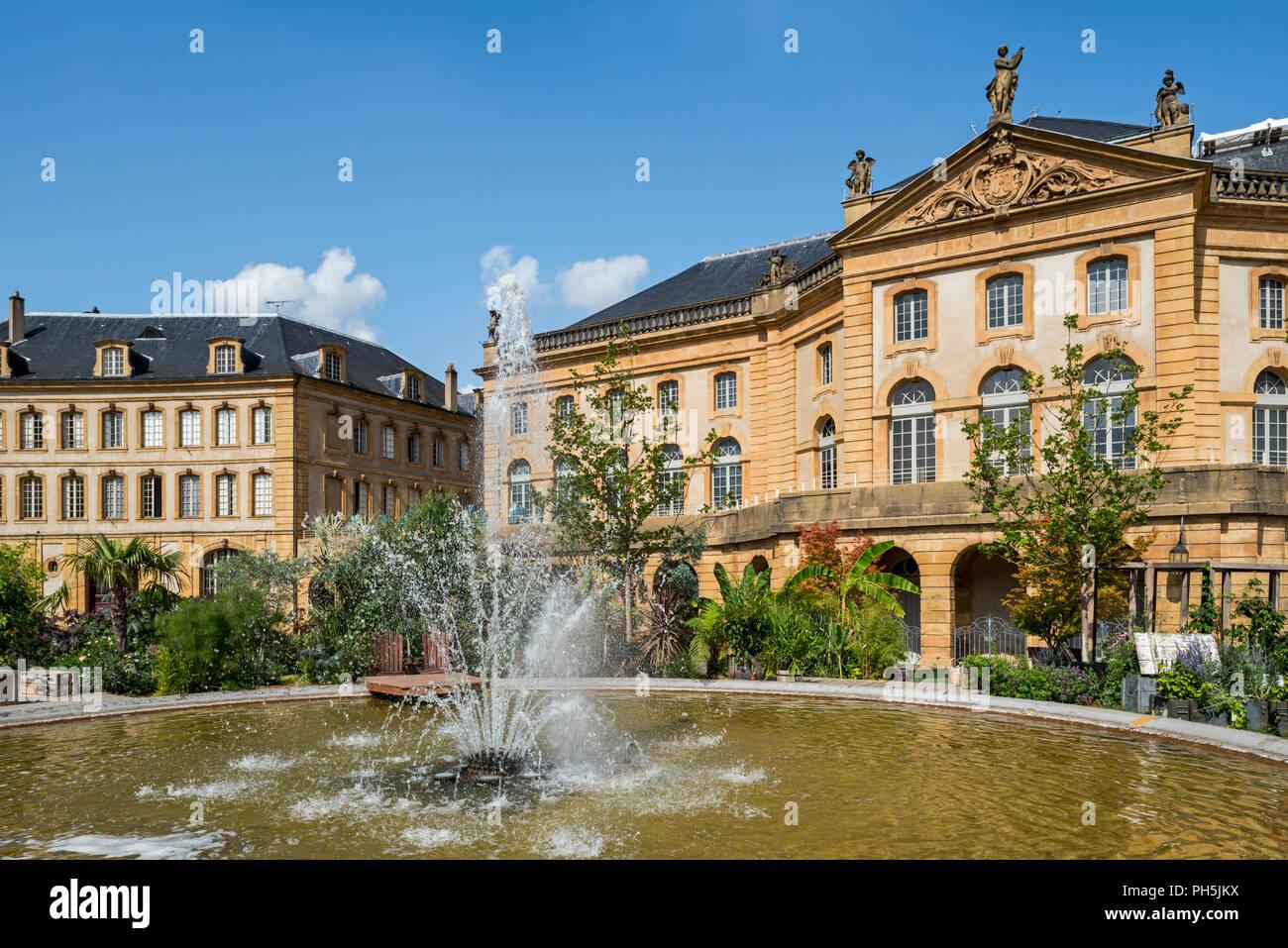 18. jahrhundert Nähe des Operntheaters de Metz Métropole, Oper und Theater an der Place de la Comédie/Komödie Platz der Stadt Metz, Moselle, Frankreich Stockbild