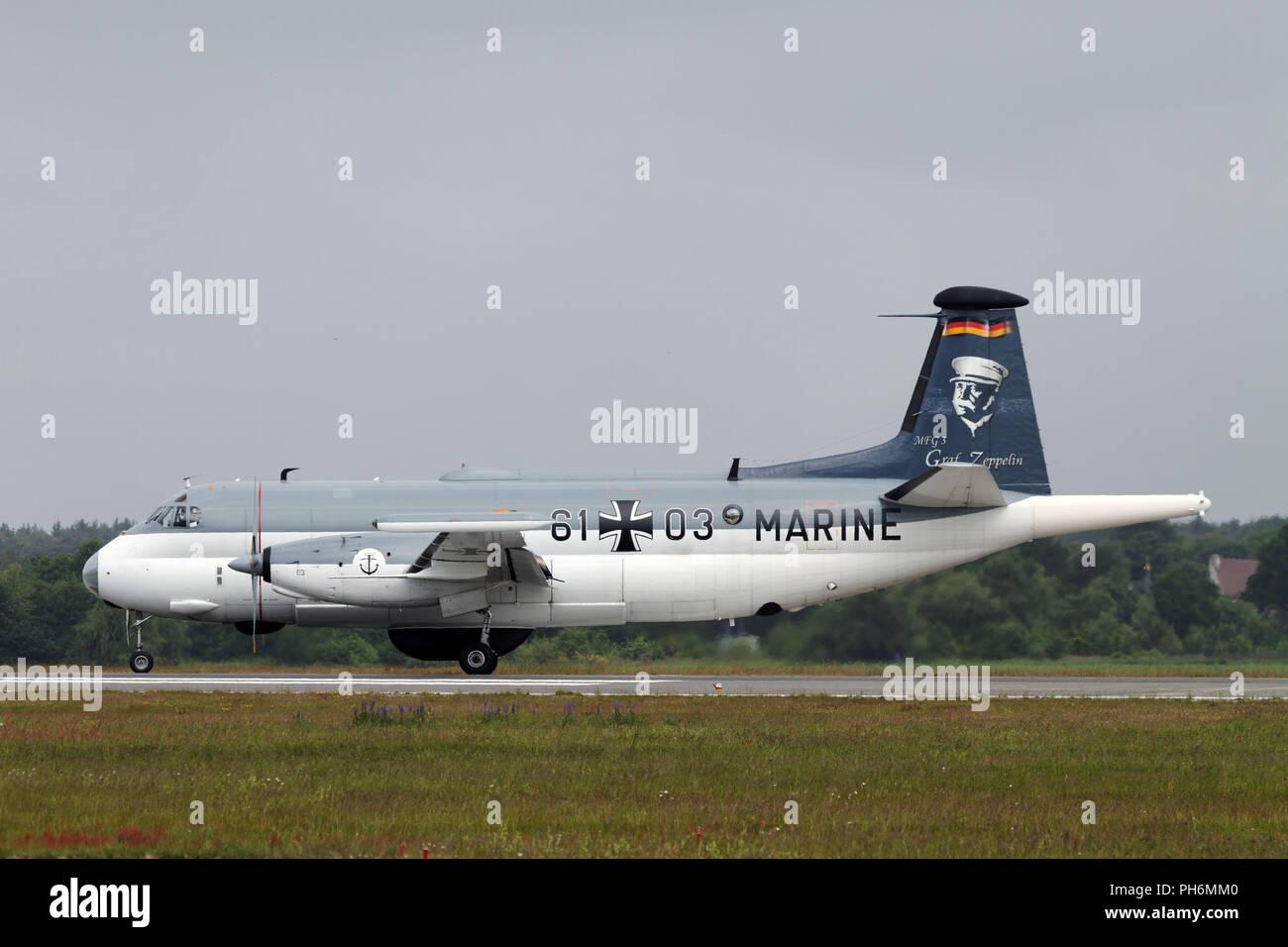 Marinefliegergeschwader 3 in Nordholz. Stockfoto