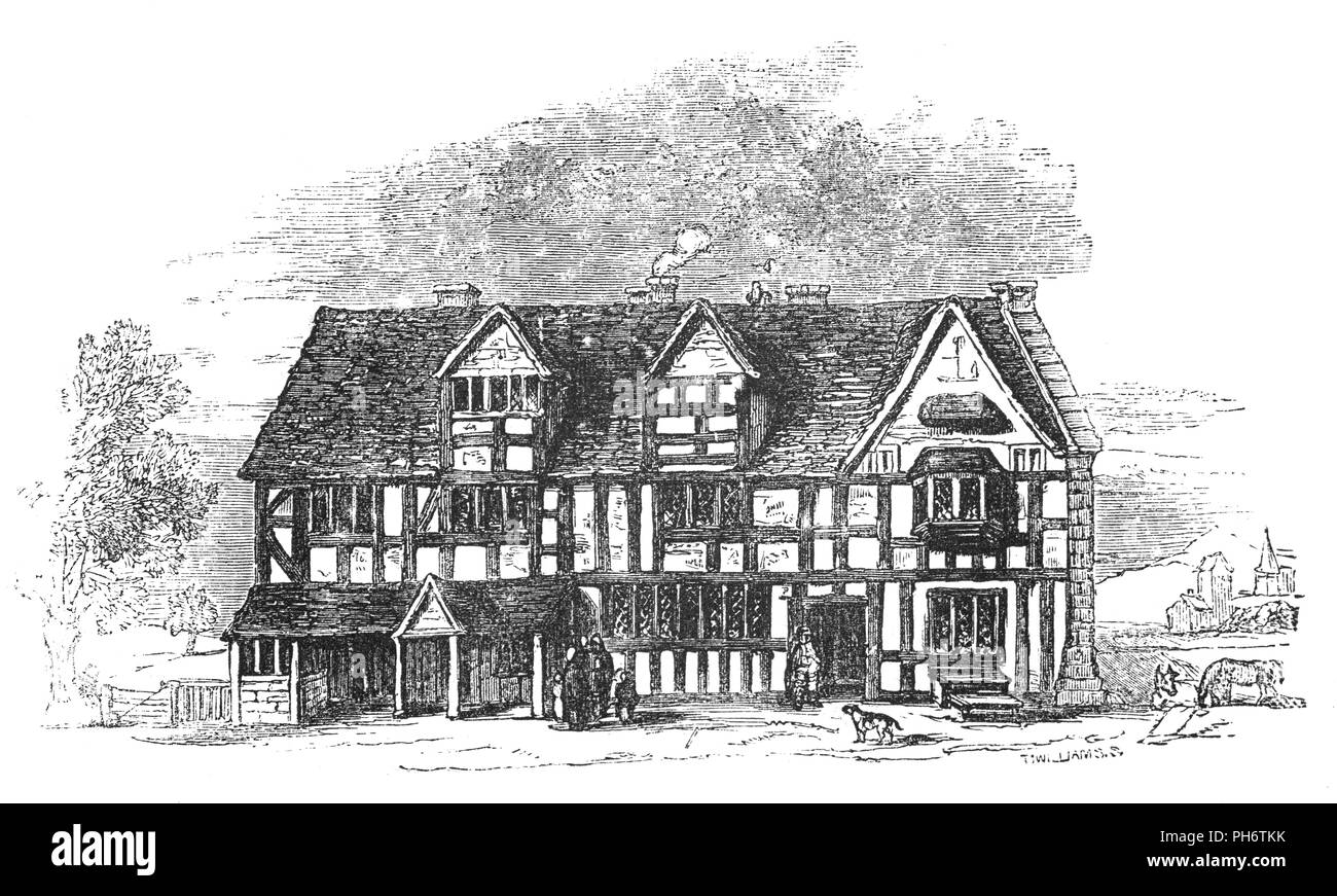 John Shakespeares Tudor House kaufte im Jahre 1556 in der Henley ...