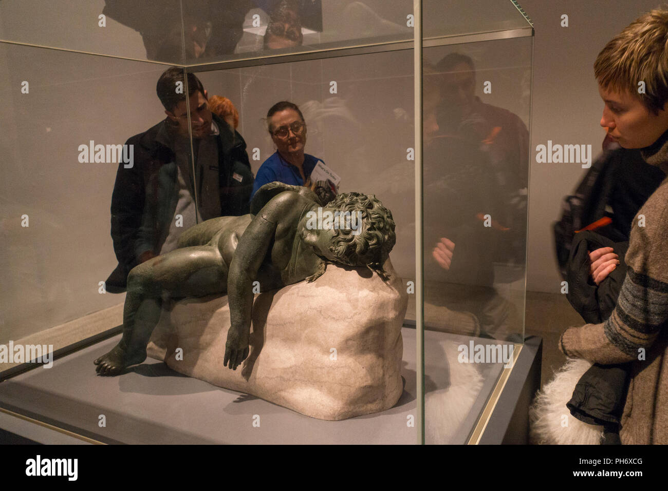 Michelangelo Ausstellung Metropolitan Museum der Kunst in New York City Stockbild