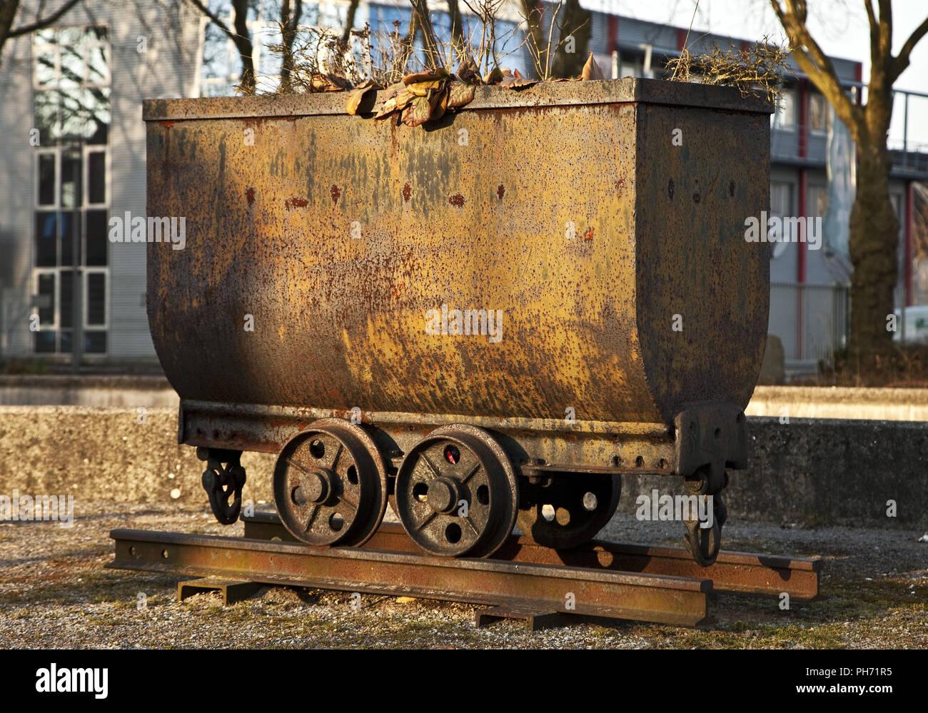 Kohlen Lore, mine Arensberg Sequel, Bottrop, Deutschland Stockbild