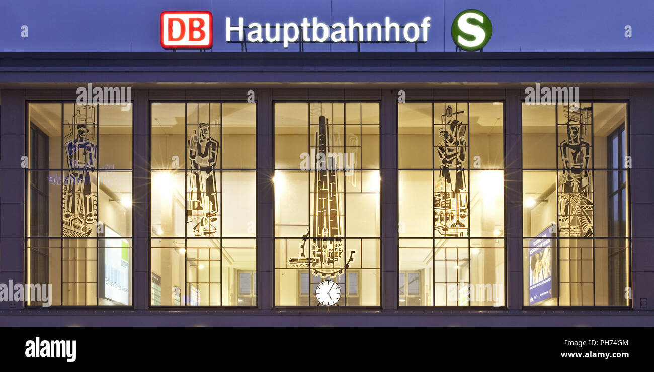 Hauptbahnhof, Dortmund, Deutschland Stockbild